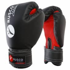 Перчатки боксерские RUSCO SPORT кож.зам.  8 Oz черные RuscoSport