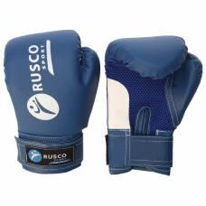Перчатки боксерские RUSCO SPORT кож.зам.  8 Oz синие RuscoSport