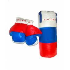 Боксерский набор российский флаг (средний) Лапландия