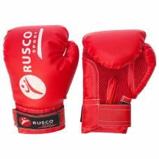 Перчатки боксерские RUSCO SPORT детские кож.зам. 6 Oz цвет красный RuscoSport