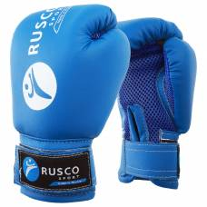 Перчатки боксерские RUSCO SPORT детские кож.зам. 4 Oz синие RuscoSport