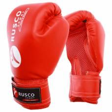 Перчатки боксерские RUSCO SPORT кож.зам.  8 Oz цвет красный RuscoSport