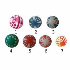Лакированный мяч с узорами, в сетке, 20 см Чебоксарский Завод