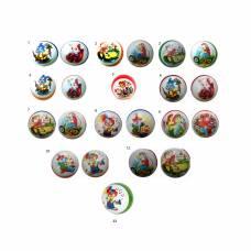 Резиновый мяч с двойным рисунком, 20 см Чебоксарский Завод