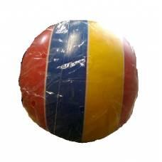 Полосатый лакированный мяч, желто-синий, 20 см Чебоксарский Завод