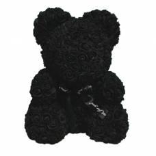 Мишка из роз 25 см, Чёрный Sima-Land