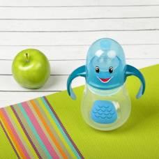 Бутылочка для кормления антиколиковая «Птенчик», с ручками, 280 мл, от 0 мес., цвет голубой Крошка Я