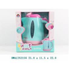Игрушечный чайник Sweet Family (свет) Shantou