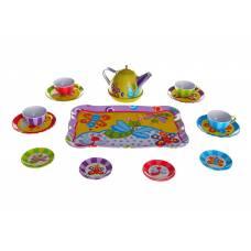 Игровой набор металлической посудки Tin Tea Set на четыре персоны