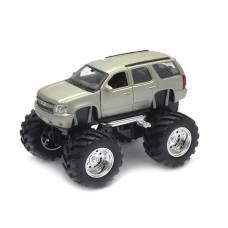 Коллекционная модель Chevrolet Tahoe - Big Wheel, бежевая, 1:34-39 Welly