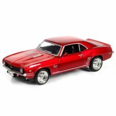Инерционная машинка Chevrolet Camaro 1969, красный металлик, 1:32 RMZ City
