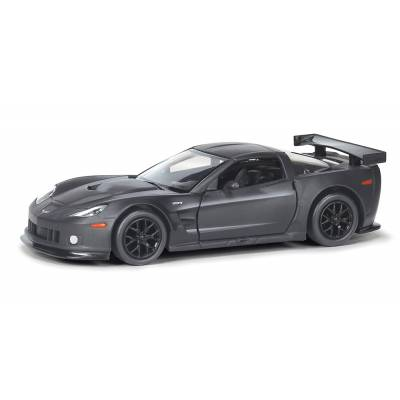 Инерционная коллекционная машинка Chevrolet Corvette C6.R, черная, 1:32 RMZ City