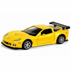 Инерционная машинка Chevrolet Corvette C6-R, желтый металлик, 1:32 RMZ City
