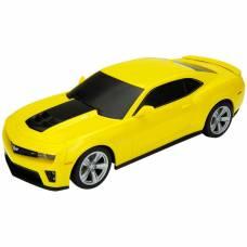 Коллекционная модель машины Chevrolet Camaro ZL1, желтая, 1:34-39 Welly