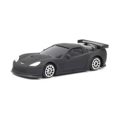 Масштабная модель автомобиля Chevrolet Corvette C6R, матово-черная, 1:64 RMZ City