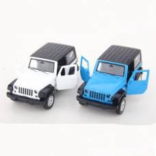Инерционная металлическая машинка Chrysler - Jeep Wrangler, 1:42 Пламенный мотор