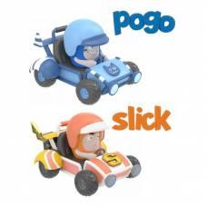 Миникартинги Oddbods - Pogo & Slick, 2 шт. RP2 Global