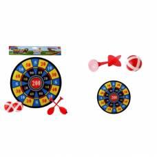 Дартс Target с дротиками и шариками, желто-синий Shantou
