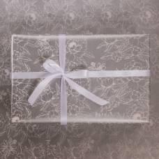 Бумага глянцевая в рулоне «Цветы», серебряная краска 0.68 × 8 м Sima-Land