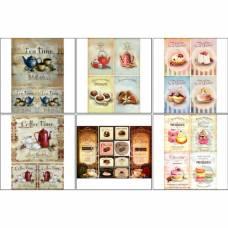 Набор декупажных карт 6 шт «Кофе чай 1» Sima-Land