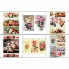 Набор декупажных карт 6 шт «Винтажные розы 1» Sima-Land
