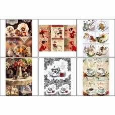 Набор декупажных карт 6 шт «Кофе чай 2» Sima-Land