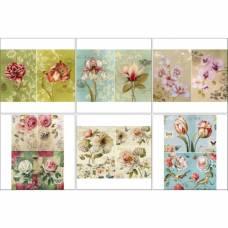 Набор декупажных карт 6 шт «Чудесное цветение» Sima-Land