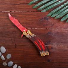 Сувенир деревянный «Нож бабочка, красный гранит» Sima-Land