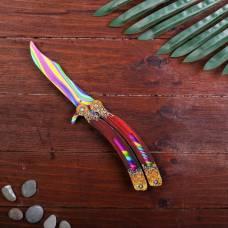 Сувенир деревянный «Нож бабочка, радужные линии» Sima-Land