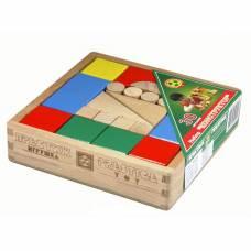 Деревянный конструктор, цветной, 30 деталей Престиж