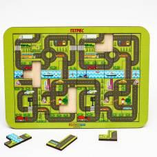 Логическая игра Woodland Toys 65104 Тетрис большой Карта города Woodland (Сибирский сувенир)