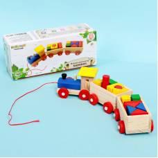 Деревянная игрушка-каталка