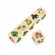 Кубики Игрушки машины, растения, одежда, спорт, цирк, птицы, 6 кубиков Анданте