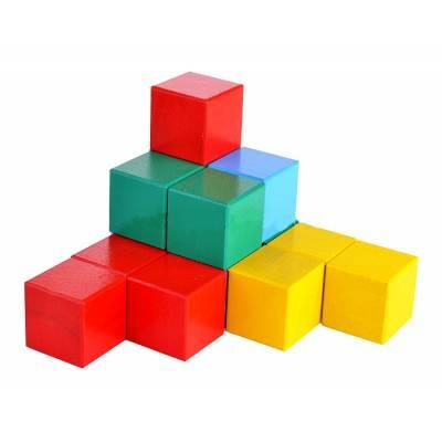 Деревянные кубики, цветные, 16 шт. Престиж