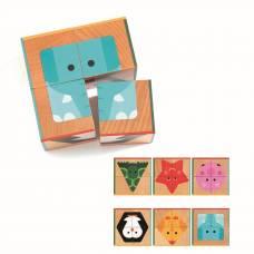 Кубики, 4 шт, Животные Djeco