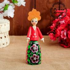 Сувенирная кукла «Девушка в кокошнике», 16 см Sima-Land