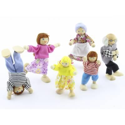 Набор из 6 деревянных кукол  МДИ