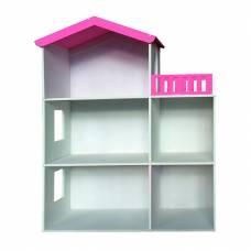 Кукольный домик 3-этажный с балконом и оконными проемами, 1:12
