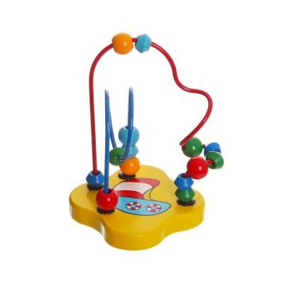 Деревянная игрушка-головоломка «Разноцветный лабиринт» Bondibon