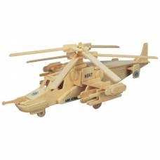 Деревянная сборная модель вертолета