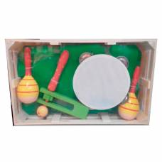 Набор музыкальных инструментов с белым бубном  МДИ