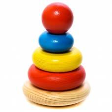 Деревянная пирамидка с круглым основанием, 5 элементов Томик