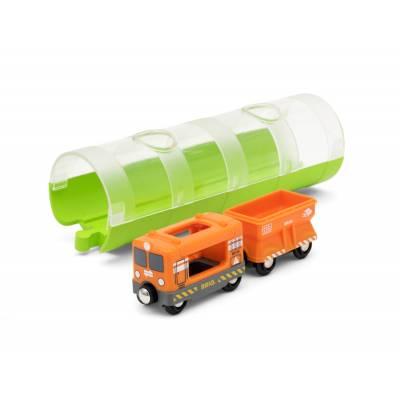 Грузовой вагон и туннель, 3 элемента Brio