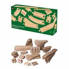 Большой набор деталей для деревянной ж/д, 50 элементов Brio