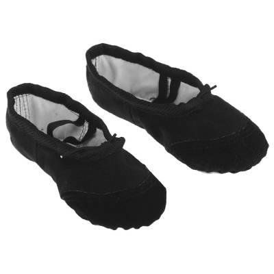 Балетки гимнастические, размер 38, цвет чёрный Sima-Land