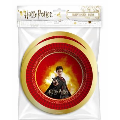 Harry Potter. Набор бумажных тарелок, 6 шт, d=180 мм НД плэй / ND PLAY