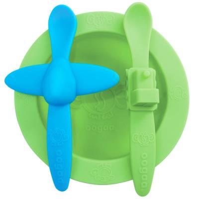 Набор детской силиконовой посуды (3 шт.) Oogaa