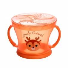 Контейнер для хранения питания детский, непросыпайка, цвет оранжевый Крошка Я