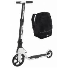 Двухколесный самокат Slider с рюкзаком, складной, белый Slider