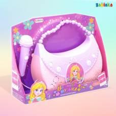 Музыкальный микрофон-сумочка «Я принцесса», световые и звуковые эффекты, работает от батареек Забияка
